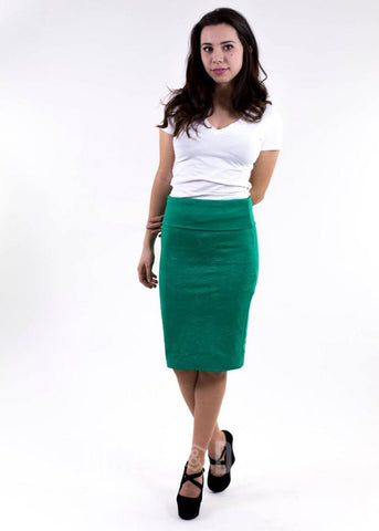 Agnes & Dora™ Green Stamped Pencil Skirt ONESIE SALE