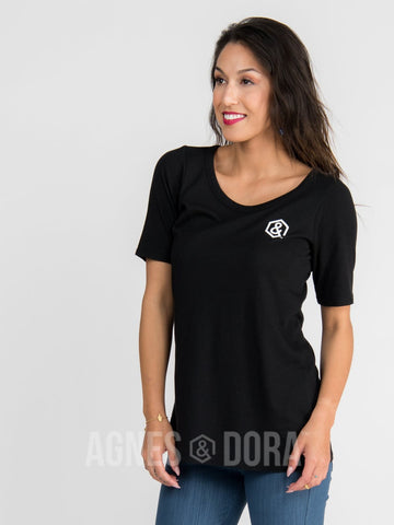 Agnes & Dora™ Everyday Graphic Tee Black ONESIE SALE