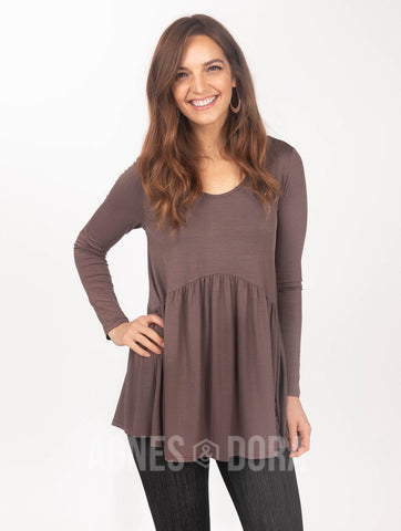 Agnes & Dora™ Muse Top Long Sleeve New Brown