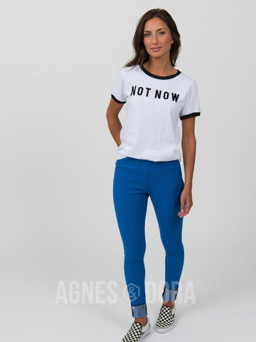 Agnes & Dora™ Vintage Graphic Tee Not Now Maybe Later
