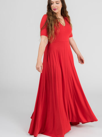 Agnes & Dora™ Essential Maxi Dress Red