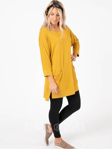 Agnes & Dora™ Deep Pocket Tunic Gold