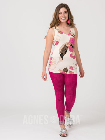 Agnes & Dora™ Fitted Tank V-Neck Vintage Botanical ONESIE SALE