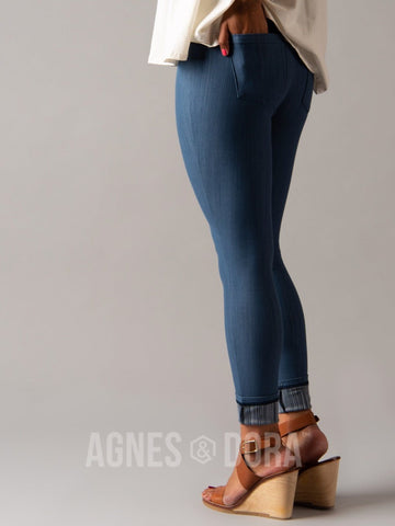 Agnes & Dora™ Knit Jeggings Light Blue