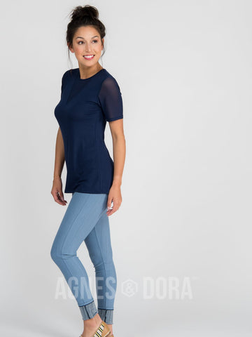 Agnes & Dora™ Knit Jegging Light Denim