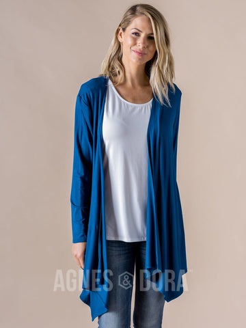 Agnes & Dora™ Waterfall Cardigan Teal