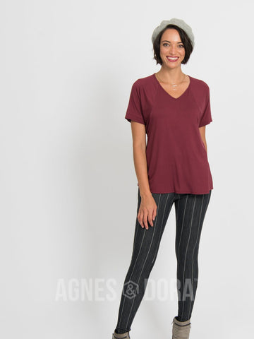 Agnes & Dora™ Love Top Black Cherry