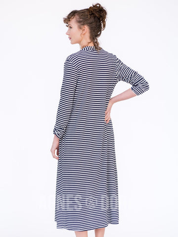 Agnes & Dora™ Duster Navy and White Stripe ONESIE SALE