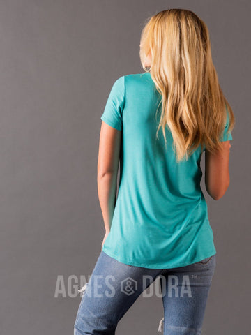 Agnes & Dora™ Fitted Tee Sea Foam
