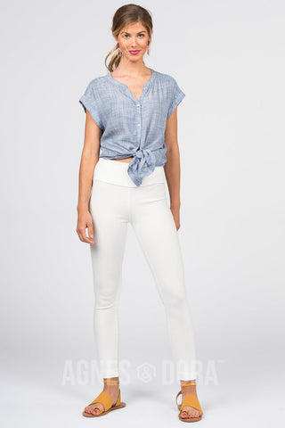 Agnes & Dora™ Knit Jegging White