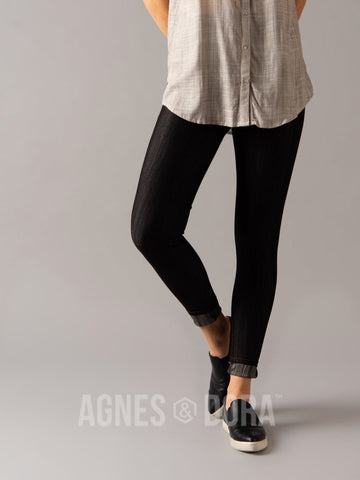 Agnes & Dora™ Knit Jeggings Black (reinforced elastic waistband)