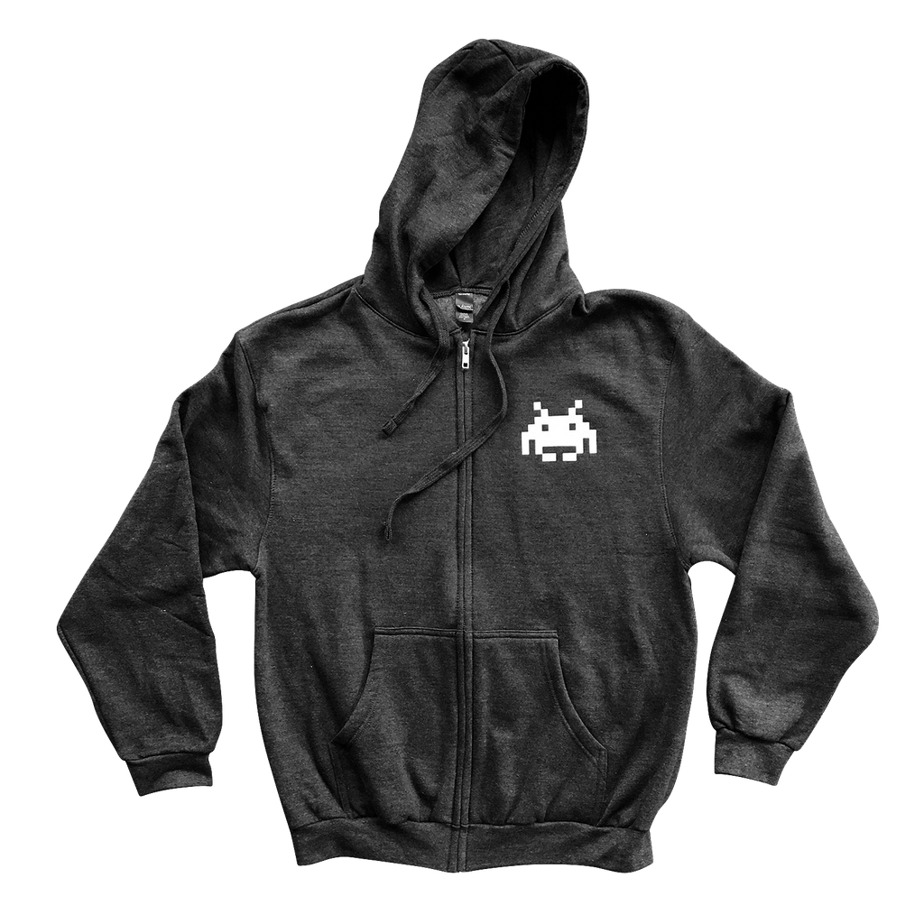 SPACE INVADER - ZIP-UP HOODIE
