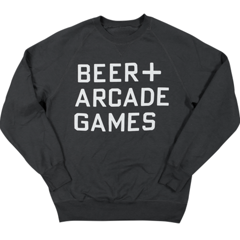 BEER+ARCADE GAMES - SWEATSHIRT
