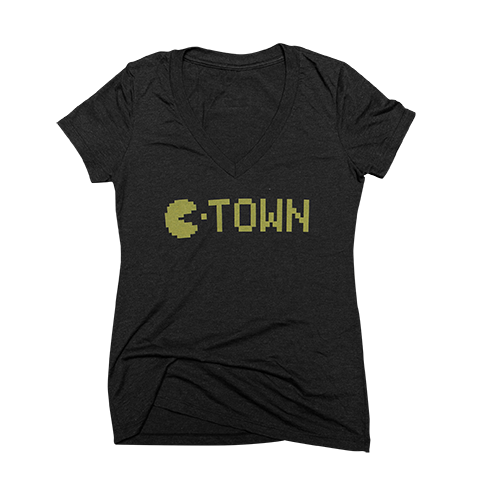 C-TOWN PACMAN - WOMANS V-NECK