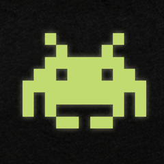 SPACE INVADERS GLOW-IN-THE-DARK - WOMEN'S CREW NECK