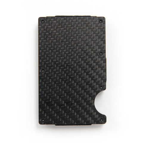 Wavy Label Carbon Fiber Wallet
