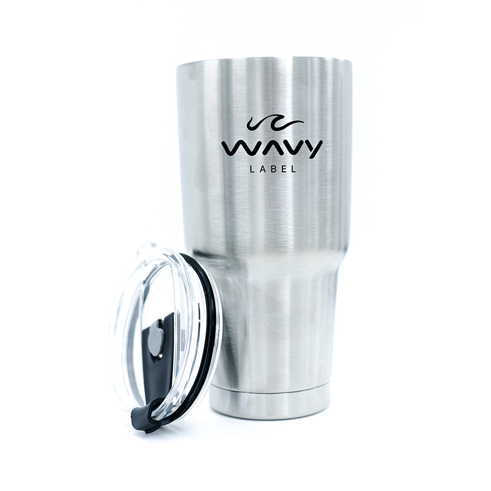 Wavy Label Stainless Steel Mug