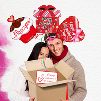 Valentine's Day Bouquet Balloon Gift Box