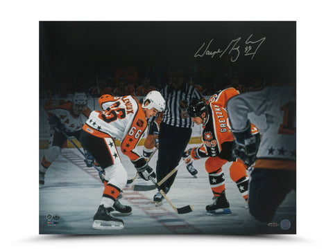 WAYNE GRETZKY SIGNED '1997 ALL STAR FACEOFF 20X24