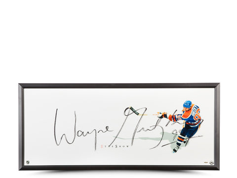 WAYNE GRETZKY OILERS THE SHOW - AUTOGRAPHED