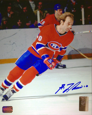 GUY LAFLEUR SIGNED 8X10 PHOTOGRAPH - MONTREAL CANADIENS (RED)
