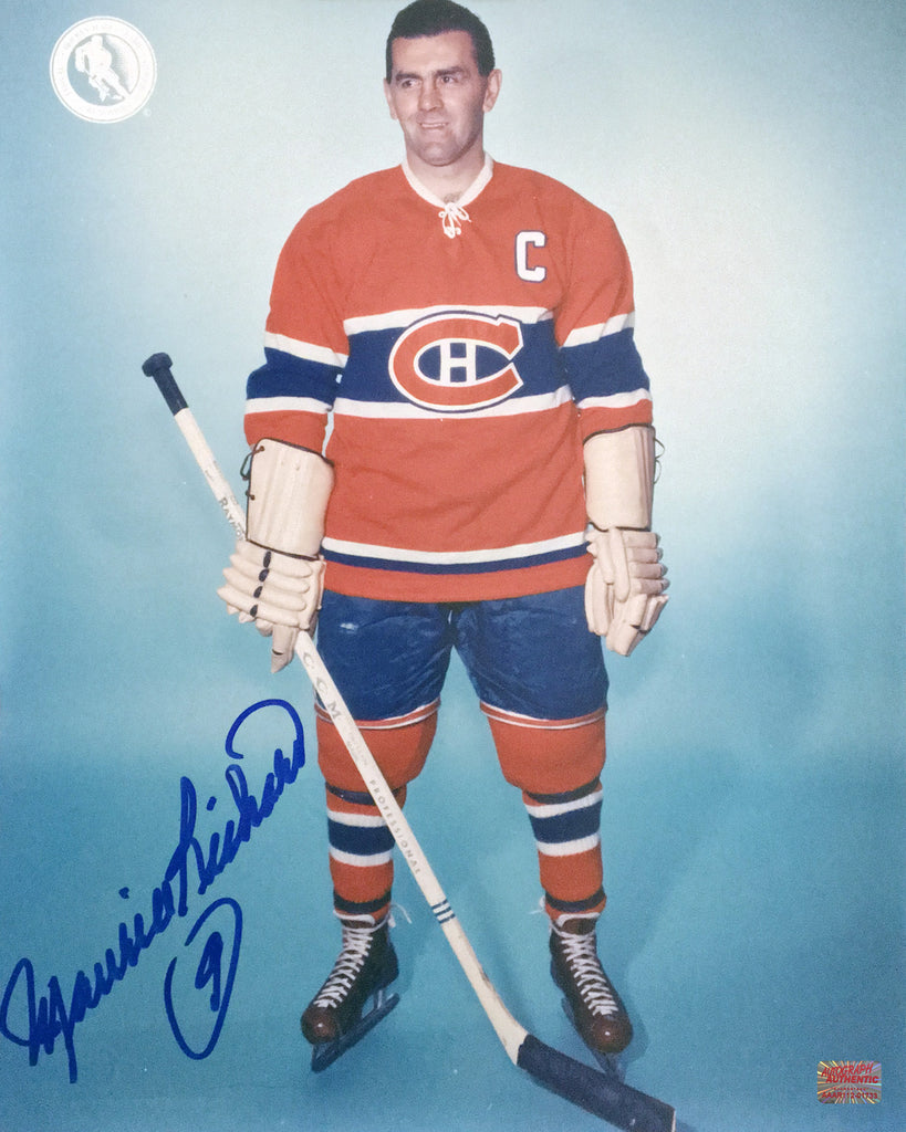 Autographed Maurice Richard 8X10 Pose Photo Montreal Canadiens, Montreal Canadiens, NHL, Hockey, Autographed, Signed, AAHPH31936