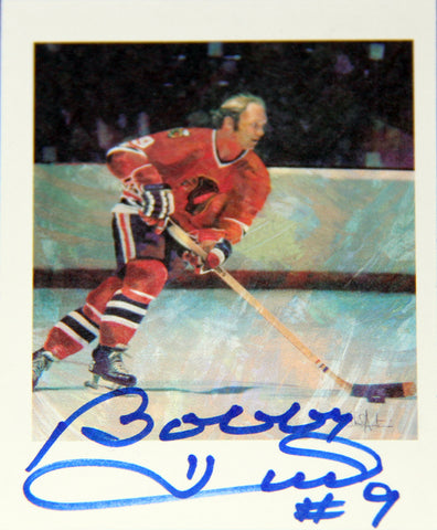 BOBBY HULL AUTOGRAPHED COLLECTOR CARD - CHICAGO BLACKHAWKS