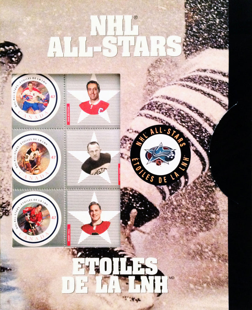 Canada Post 2001 Nhl Alumni All-Star Stamp Set, All-Stars, NHL, Hockey, Collectibile Memorabilia, AAPSH30408