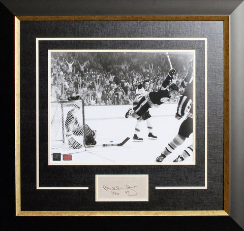 "BOBBY ORR ""THE GOAL"" FRAMED WITH CUT SIGNATURE - LTD ED /444 - BOSTON BRUINS"