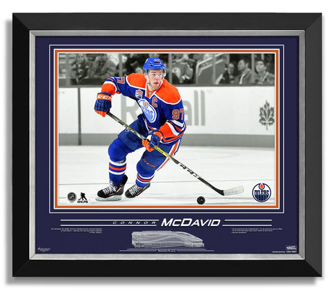 CAPTAIN CONNOR MCDAVID FRAMED COLLECTOR SPOTLIGHT PHOTO - 16X20