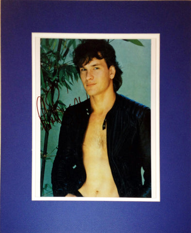 FRAMED 8X10 PHOTOGRAPH - AUTOGRAPHED BY PATRICK SWAYZE