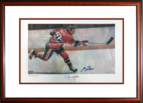 AUTOGRAPHED GUY LAFLEUR LITHOGRAPH LIMITED EDITION OF 1010