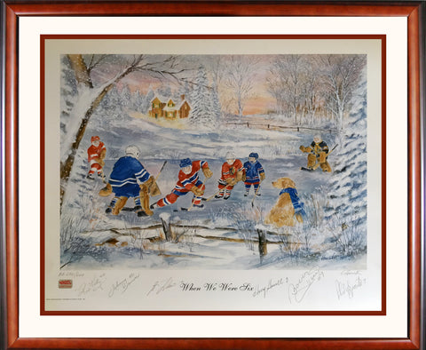 """WHEN WE WERE SIX"" #0/600 - SIGNED KELLY, HOWELL, BOWER, HULL, LAFLEUR, ESPOSITO"