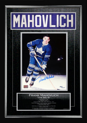 FRANK MAHOVLICH CAREER COLLECTIBLE NAMEBAR - MUSEUM FRAMED - LTD ED OF 127