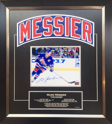 MARK MESSIER CAREER COLLECTIBLE NAMEBAR SIGNED - NY RANGERS - LTD ED OF 11