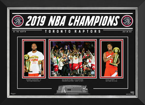 TORONTO RAPTORS 2019 NBA CHAMPIONS - LIMITED EDITION 1/219 COLLECTOR PHOTO