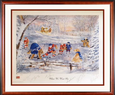 """WHEN WE WERE SIX"" #1/600 - SIGNED KELLY, HOWELL, BOWER, HULL, LAFLEUR, ESPOSITO"