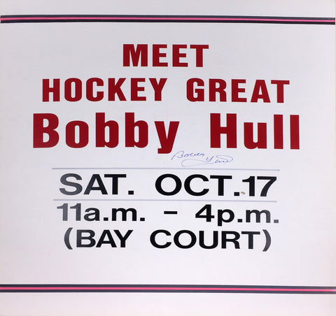 BOBBY HULL AUTOGRAPHED SIGN - CHICAGO BLACKHAWKS