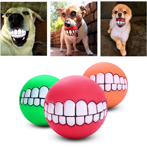 Funny Squeaking Dog Ball Teeth - Enjoy Your Everyday Life