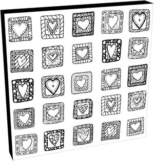 Hearts in Squares I