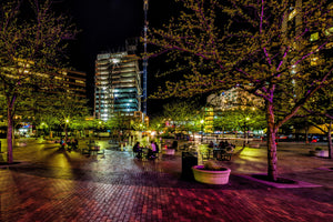 Boise Grove Plaza at Night