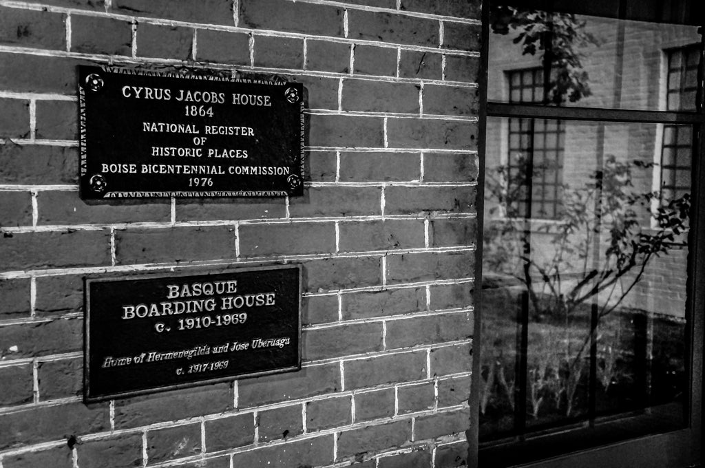 Basque Boarding House B&W Sign