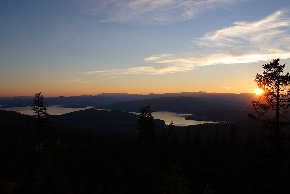 Sunset over Priest Lake