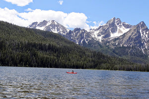Red Kayak on Stanley Lake
