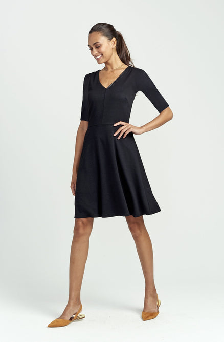 Fit & Flare Dress - Elbow Sleeve