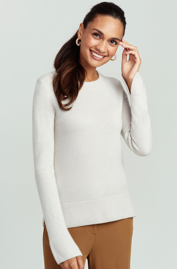 Wide-Cuff Cashmere Sweater