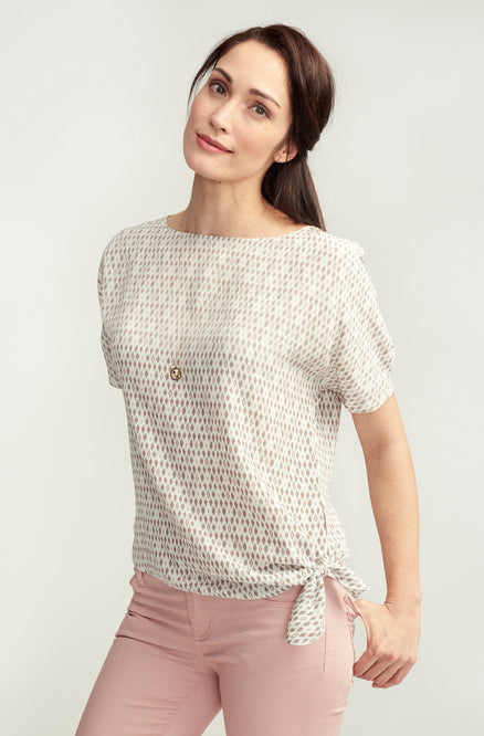 Side-Tied Andy Blouse