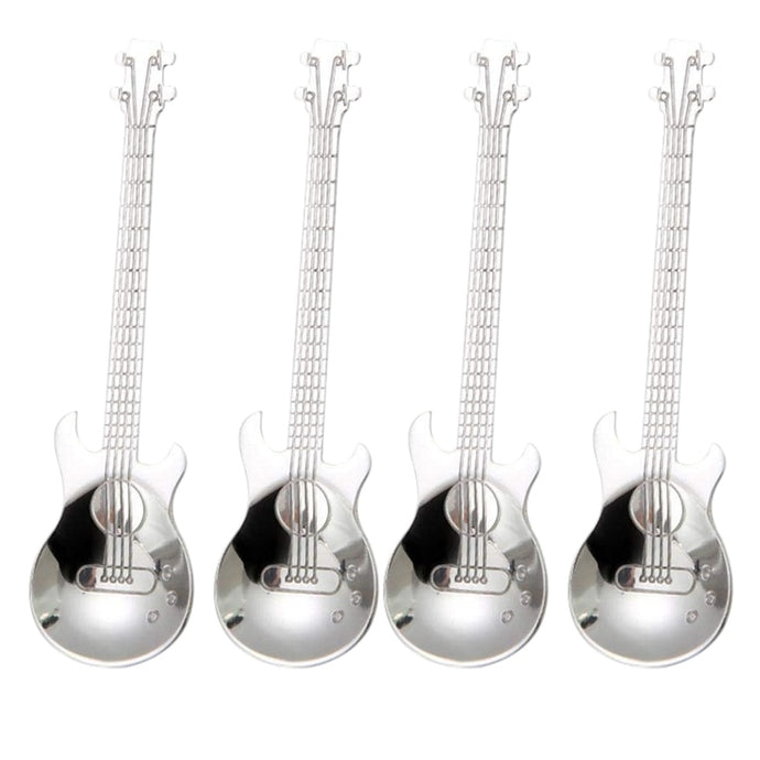4 Piece Guitar Coffee Spoons