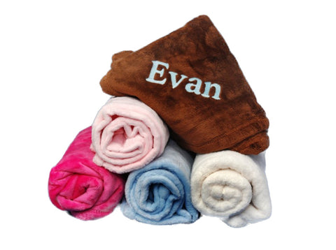 Custom Personalized Microfleece Baby Blanket