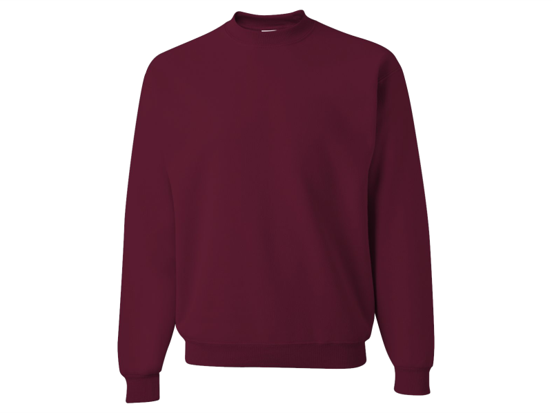 Monogrammed Sweatshirt Front and Back (Burgundy)